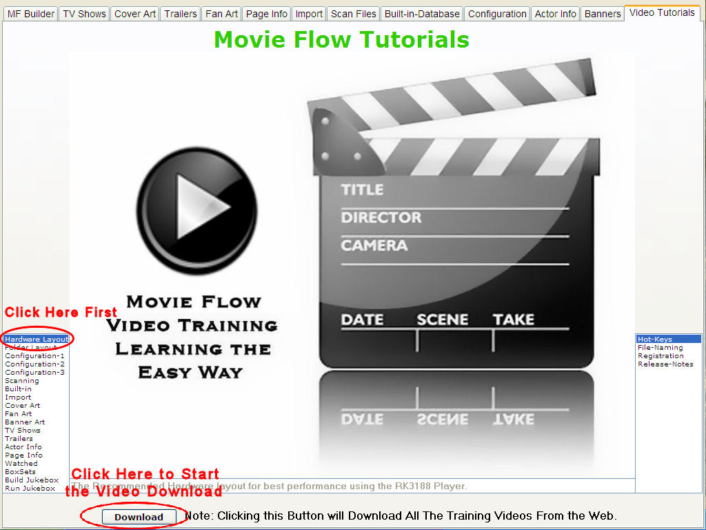 Movie Flow Download Tutorials Program by Indocomp Systems Inc